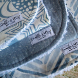 Steel Blue Galaxy Burp Cloth Set