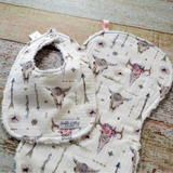Bohemian Bib and Burp Cloth Set