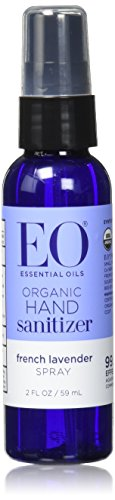 EO Hand Sanitizer Spray, Organic French Lavender, 2 Ounce (Pack of 6) -  - EO - ProducerDJ.Market