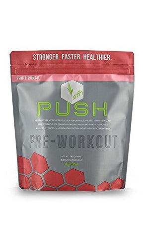 PUSH Pre-Workout Powder (Fruit Punch) by SFH® | Best Tasting 5g BCAA's for Muscle Repair | Non-Dairy, No Artificial Flavors, Colors, or Sweeteners | 540g Bag -  - SFH - ProducerDJ.Market