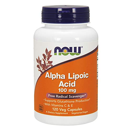 Now Alpha Lipoic Acid 100 mg,120 Veg Capsules