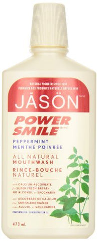 JASON PowerSmile Brightening Peppermint Mouthwash, 16 Ounce Bottles (Pack of 3) -  - Jason Natural - ProducerDJ.Market