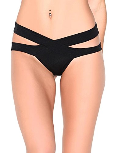 iHeartRaves Scrunch Back Aries Bottoms, Strappy Bikini Booty Shorts