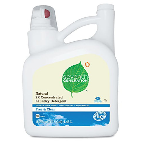 Seventh Generation Liquid Laundry 2x Ultra Concentrate - Free and Clear, 150-Ounce -  - Seventh Generation - ProducerDJ.Market