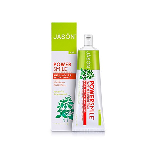 Jason Powersmile Enzyme Brightening Gel Toothpaste Fluoride-free, 4.2 Ounce -  - Jason - ProducerDJ.Market