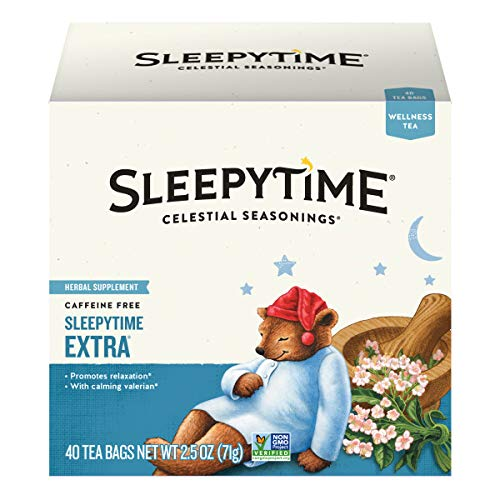 Celestial Seasonings Wellness Tea, Sleepytime Extra, 40 Count Box (Pack of 6)