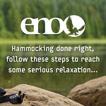 Eagles Nest Outfitters ENO SingleNest Hammock, Portable Hammock for One, Powder Blue/Royal