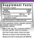 Bluebonnet Albion Chelated Buffered Magnesium 200 mg, 120 Vegetarian Capsules, 120 Count