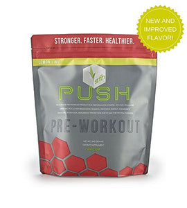 PUSH Pre-Workout Powder (Lemon Lime) by SFH® | Best Tasting 5g BCAA's for Muscle Repair | Non-Dairy, No Artificial Flavors, Colors, or Sweeteners | 540g Bag -  - SFH - ProducerDJ.Market