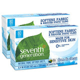 Seventh Generation Fabric Softener Sheets, Free and Clear, 80-Count (Pack of 2) Packaging May Vary -  - Seventh Generation - ProducerDJ.Market