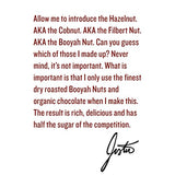 Chocolate Hazelnut Butter by Justin's, Organic Cocoa, No Stir, Gluten-free, Responsibly Sourced, 16oz Jar