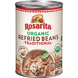 Rosarita Organic Refried Beans, 16 Oz. (Pack of 12)