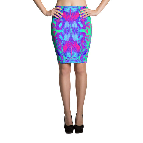 Kandi Flip Fractal Pencil Skirt