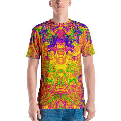 Monument To Love Abstract Men's V-Neck
