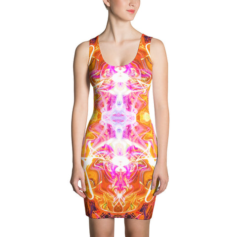 Just A Kick Drum Fractal Bodycon Dress