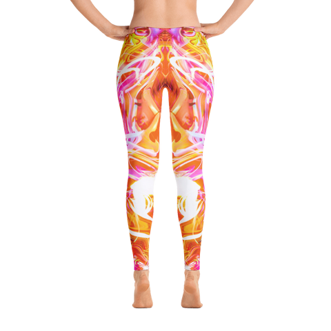 Just A Kick Drum Abstract Leggings