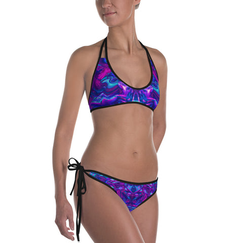 Soul Contracts Abstract Fractal Reversible Bikini