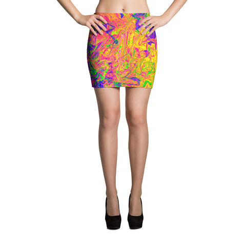 Monument To Love Abstract Mini Skirt