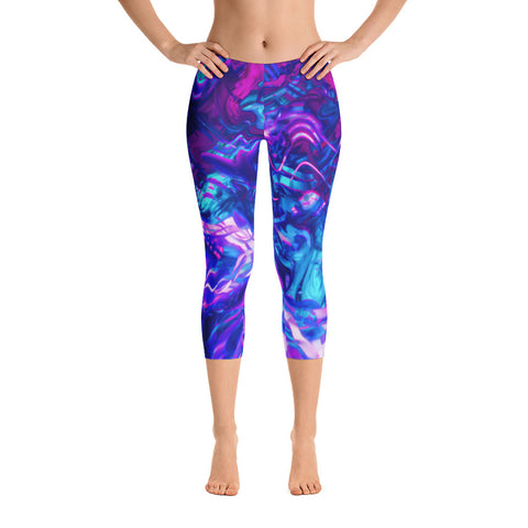 Soul Contracts Abstract Capri Leggings