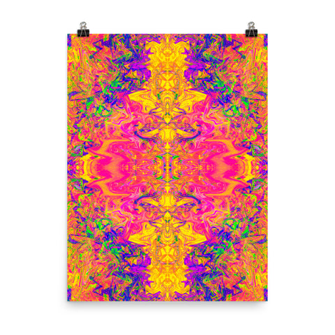 Monument To Love Fractal Premium Poster