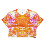Just A Kick Drum Abstract Crop Top