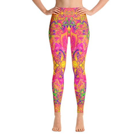 Monument To Love Fractal High Waisted Leggings