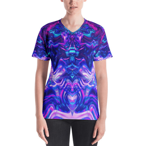 Soul Contracts Abstract Women's V-Neck