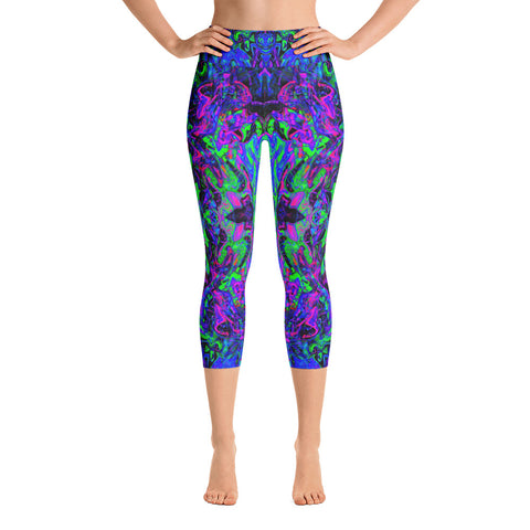 PlurthONEarth Fractal High Waisted Capri Leggings