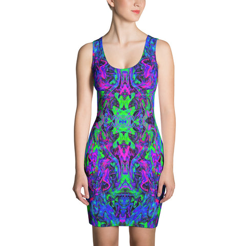 PlurthONEarth Fractal Bodycon Dress