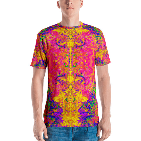 Monument To Love Fractal Men's T-Shirt