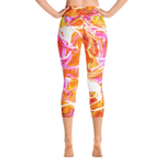 Just A Kick Drum Abstract High Waisted Capri Leggings