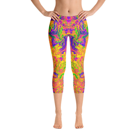 Monument To Love Abstract Capri Leggings