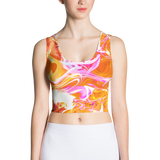Just A Kick Drum Abstract Bodycon Crop Top