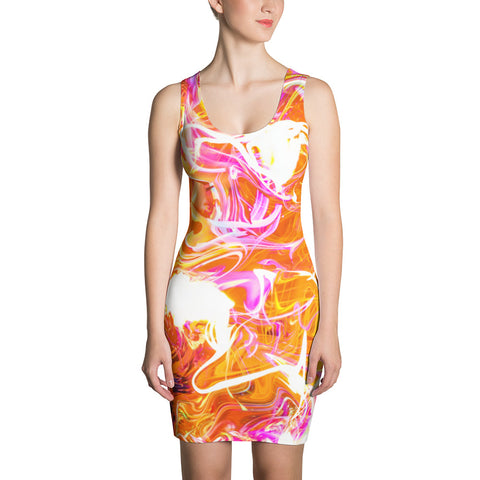 Just A Kick Drum Abstract Bodycon Dress