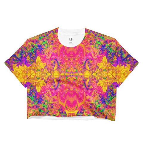 Monument To Love Fractal Crop Top