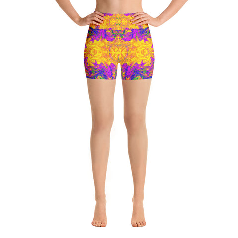 Monument To Love Fractal High Waisted Shorts