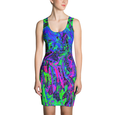 PlurthONEarth Abstract Bodycon Dress