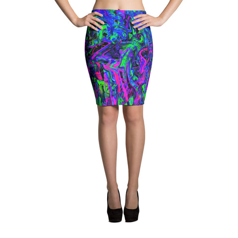 PlurthONEarth Abstract Pencil Skirt