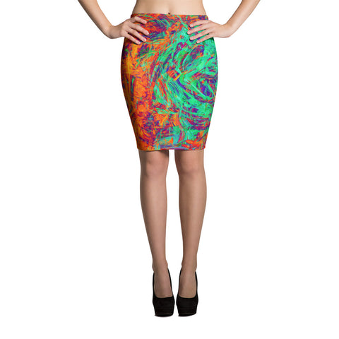 Beyond Sketchy Abstract Pencil Skirt