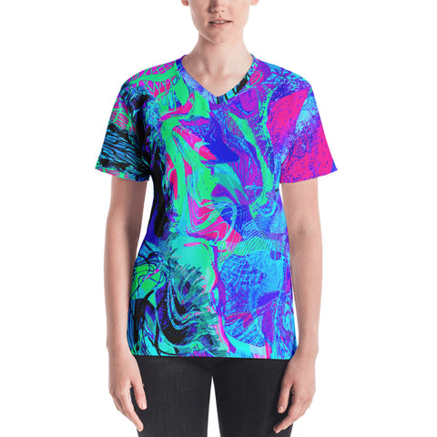 Kandi Flip Abstract Women's V-Neck