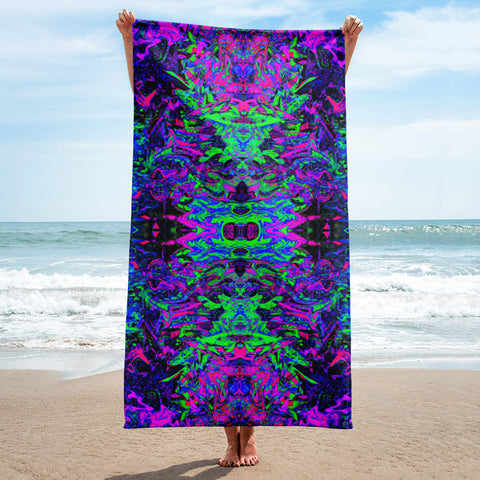 PlurthONEarth Fractal Beach Towel