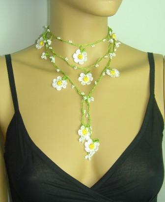 Handmade Crochet Open End Necklaces