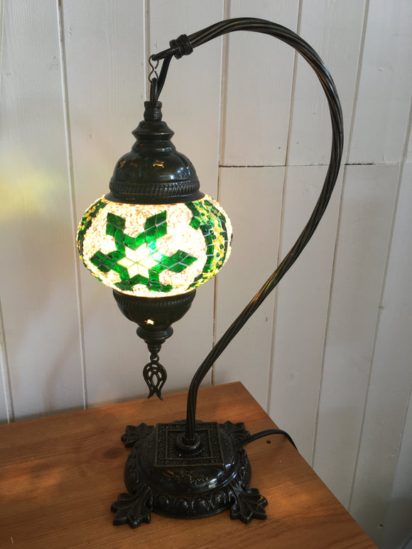 Mosaic Tiffany Curves Table Lamps No 2 Glass