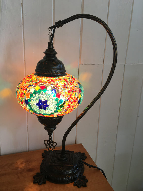 Mosaic Tiffany Curves Table Lamps No 3 Glass