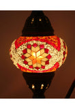 Handcrafted Mosaic Tiffany Curves/ Swan Table Lamp  017