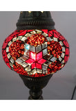 Handcrafted Mosaic Tiffany Curves/ Swan Table Lamp  001