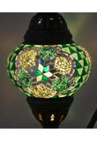 Handcrafted Mosaic Tiffany Curves/ Swan Table Lamp  032