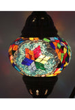 Handcrafted Mosaic Tiffany Curves/ Swan Table Lamp  039