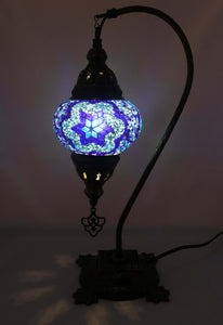 Handcrafted Mosaic Tiffany Curves/ Swan Table Lamp  060