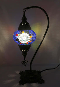 Handcrafted Mosaic Tiffany Curves/ Swan Table Lamp  062